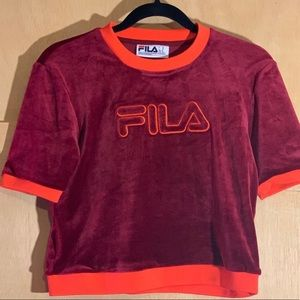 FILA VELVET CROP TOP